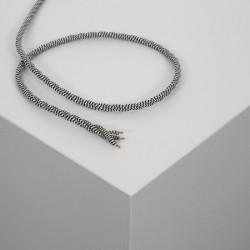 Câble Textile Tressé noir et blanc. De 1 à 100 mètres