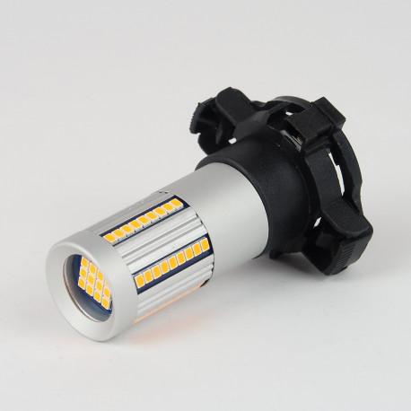 Eclairage LED pour voiture et moto : Ampoule LED Orange CANBUS PY24W 66 Leds SMD2016 1300Lm
