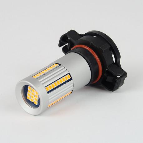 Eclairage LED pour voiture et moto : Ampoule LED Orange CANBUS PSY24W 66 Leds SMD2016 1300Lm