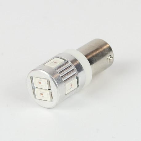 Eclairage LED pour voiture et moto : Ampoule LED BAY9S/H21W Orange Canbus 6 leds 12-24V