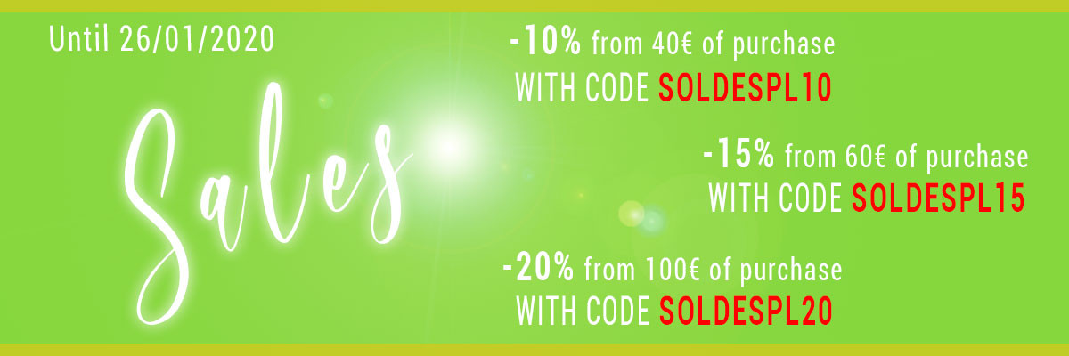 Sales 2020 - Up to 20% off from 100€ of purchase