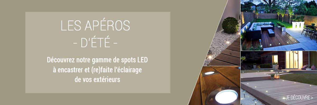 Spots LED à encastrer terrasses et jardin